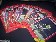 1985/86 ARSENAL HOME PROGRAMMES CHOOSE FROM