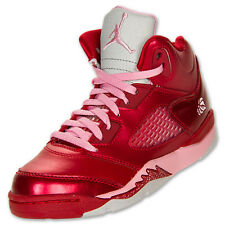 Nike Air Jordan Retro V 5 Kids Valentines Pack Rare 440893-605 FS Pink Red Shoes