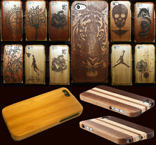 Carved Design Genuine Wood Wooden Bamboo Case Cover for Apple iphone 5C
