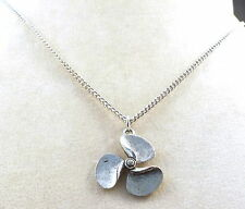 Child's Pewter Propeller Pendant on a Silver Tone Link Chain Necklace -1036