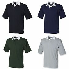 (Free PnP) Front Row Short Sleeve Sports Rugby Polo Shirt T-shirt Szs S-2XL