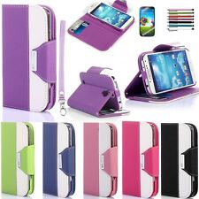 New FLIP PU Leather Wallet Case Cover Smart  For SAMSUNG GALAXY S4 SIV i9500