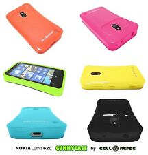 Cover for Nokia Lumia 620  High Quality TPU Cell-Nerds® - USA SELLER - 6 Colors
