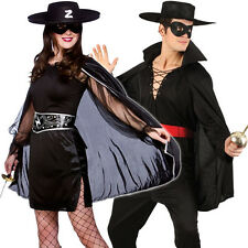 Musketeer Bandit + Hat Adults Fancy Dress Legend of Zorro Mexican Costume Outfit