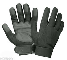 gloves military mechanics synthetic leather rothco 3468