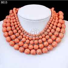 40cm/16inch Orange Synthetic Turquoise Wholesale Beads String
