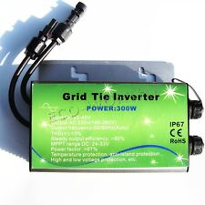 300W 24V micro grid tie inverter for solar system MPPT function waterproof MC4
