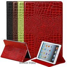 Crocodile PU Leather Folio Case Cover with Stand For Apple iPad Air 5th Gen