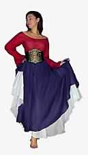 "Q&I Renaissance Medieval Costume Accent Top Skirt 27"" Full Circle Choose Color"