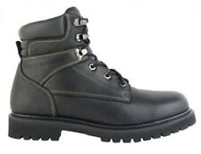 Men's CHINOOK MECHANIC BOOT Black Leather STEEL TOE Safety Work Boots New