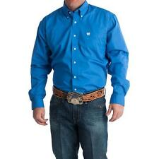 NEW! MTW1103799 Cinch Mens Blue and Square Button Long Sleeve Western Shirt
