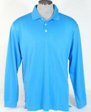 Adidas Golf ClimaCool Relaxed Fit Blue Long Sleeve Polo Shirt Mens NWT