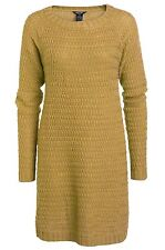 Burnt Mustard A-Line Flared Knitted Jumper Dress Long Tunic by La Redoute