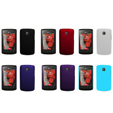 Hard Rubberized Matte Snap-On Slim Cover Case for LG Optimus L1 II / E410