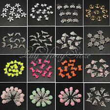 10pcs Shiny Colorful Metallic Crystal Rhinestones Nail Art Tip 3D DIY Decoration