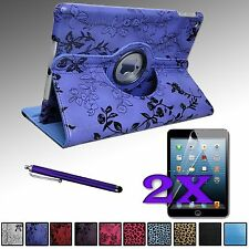 Rotating PU Leather Case Cover Stand for Apple iPad Air 5 5th Gen + Accessories
