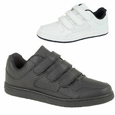 Mens Casual Shoes Gents Comfortable White Black Walking Velcro Trainers UK Sizes