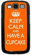 Keep Calm and have a Cupcake - Orange Case for Samsung Galaxy S3 S4