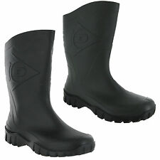 Mens Womens Wide Calf Unisex Dunlop Half Length Wellingtons Wellies Boots UK4-12