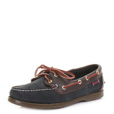 WOMENS SEBAGO VICTORY NAVY WINE LEATHER BOAT DECK SHOES MOCASSINS SIZE 3-8.5