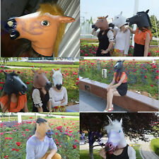 Halloween Mask Dance Party Mask Latex Horse Head Mask Masquerade Mask