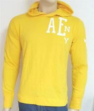 American Eagle Outfitters AEO Mens Yellow Long Sleeve Hoodie Shirt New NWT