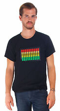 Flashing Sound Activated Light up And Down Pattern T-Shirt