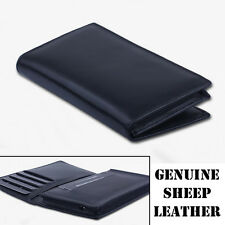Genuine Real Leather Men Gift Wallet Case Skin Bag Cover For SONY / LG Big Phone