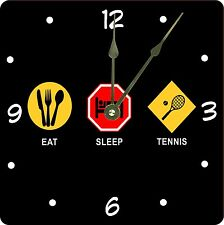 Rikki Knight Eat Sleep Tennis Wall Clock