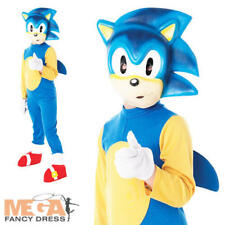 Sonic The Hedgehog Kids/Boys Fancy Dress Video Game Costume Child Ages 3-10 Y