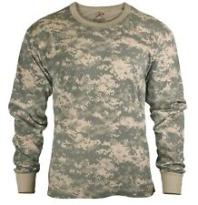 kids t-shirt long sleeve acu army digital camo various sizes rothco 6775
