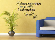Giant Beside You Quote Vinyl Wall Art Stickers Large Love Lounge Bedroom vector