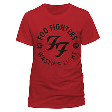 FOO FIGHTERS Wasting Light T-shirt (Red) Mens New 'Official'