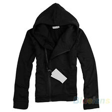 British Style Mens Boys Casual Hoodie Fashion Stand Hooded Jacket Coat B81U