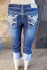 NWT Miss Chic bling Western Embellished Capri jeans sizes  5 7