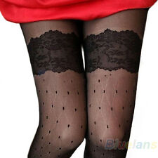 Rock Dot Cut Sexy Womens sheer Lace Pantyhose Socks Stockings Tights Slim B84U