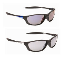 Mens Wrap Around Sports Reflective Fishing Biker Sunglasses Blue Black Mirror