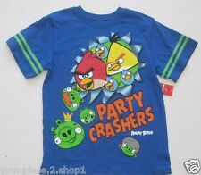 Angry Birds Boys Short Sleeve Boys Blue T-Shirt Size XL