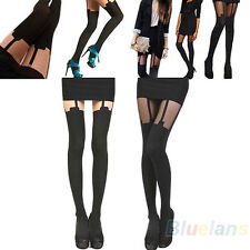 Nw Thigh High Over The Knee Stockings Hold Ups Tattoo Mock Suspender Tights BF4U