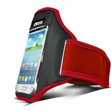 Red Running Sport Armband GYM Bag Skin Case Cover FOR HTC Mobile Cell Phones UK