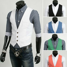 Newest Tuxedo Fashion Solid Vests Slim Fit Men's Joker Candy colored Waistcoat