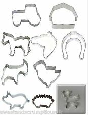 Horse, pony, Barn, Tractor Farm Pig Sheep cookie cutter multi listing