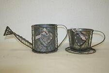 vintage metal watering can or cup & saucer vintage wedding ideal gift matching