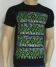 Young & Reckless Repeat Logo Camo Fill Tee Mens Black T-Shirt New NWT