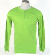 Perry Ellis Portfolio Bright Green Long Sleeve Sleepwear Thermal Shirt Mens NWT