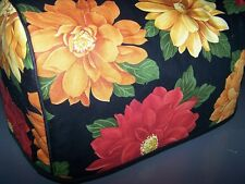 Amber Mums Sunflowers Quilted Fabric 2-Slice or 4-Slice Toaster Cover NEW