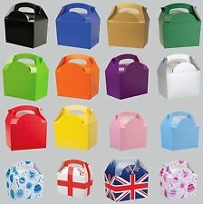 PARTY (Food/Lunch) BOXES - Large Range of Colours & Themes {Card}