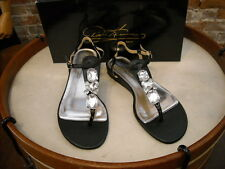 Theme Diane Gilman Black Jeweled Thong Sandal NEW