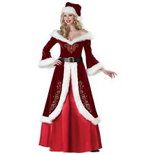 Mrs Claus Costume Adult Mrs Santa Christmas Outfit Fancy Dress