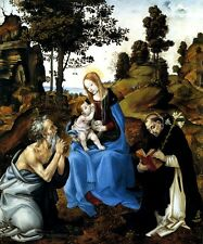 THE VIRGIN AND CHILD WITH SAINTS JEROME AND DOMINIC BY FILIPPINO LIPPI REPRO